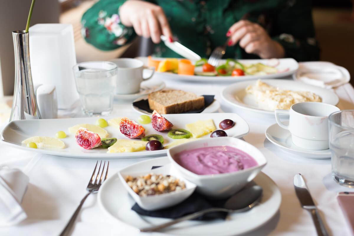 Dieetmaaltijd in het Sloveense spa resort Terme Smarjeske Toplice, hét kuuroord van verantwoord afvallen en detoxen.