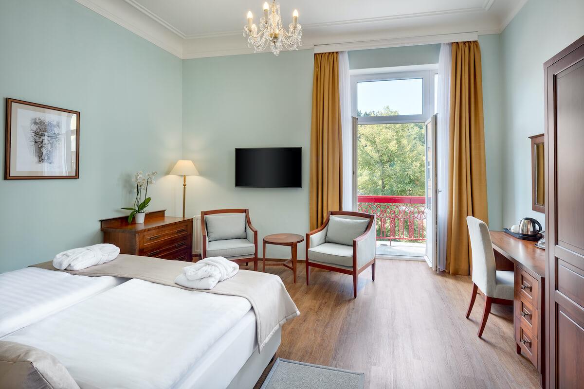 Premium kamer Hvezda Health Spa Resort in het Tsjechische Marianske Lazne (Mariënbad)