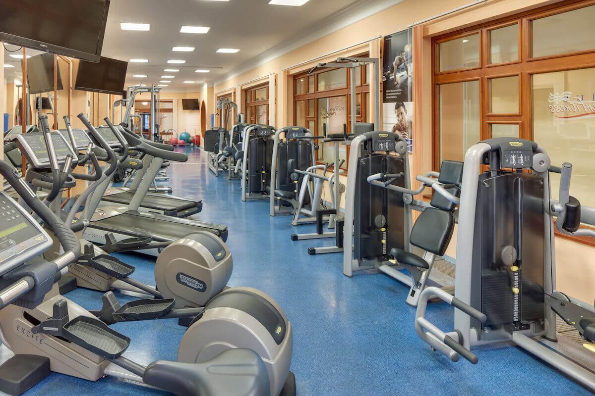 Fitness studio in het Tsjechische kuuroord Marianske Lazne (Mariënbad)