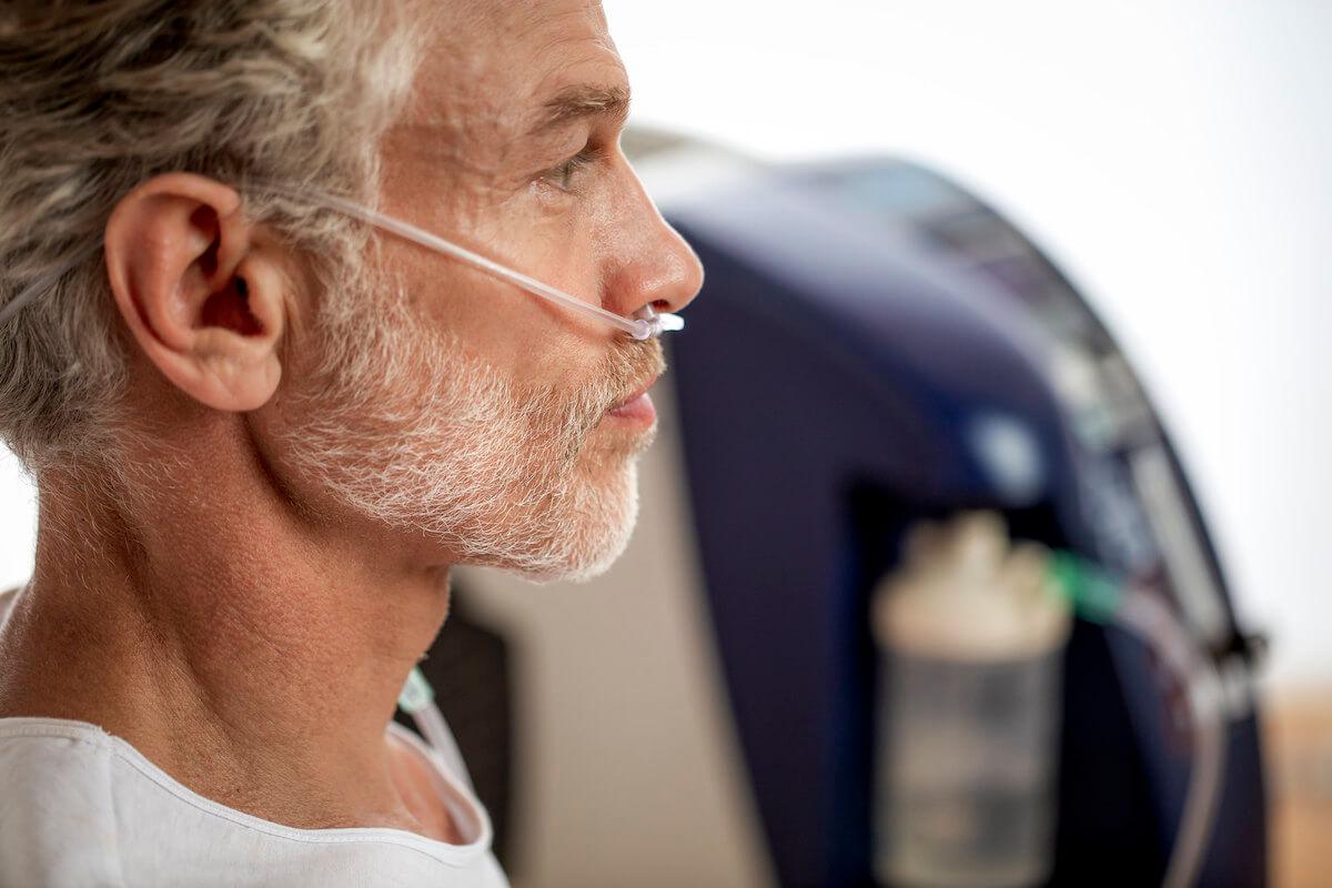 Inhalatie therapie in Hvezda Health Spa Resort in het Tsjechische Marianske Lazne