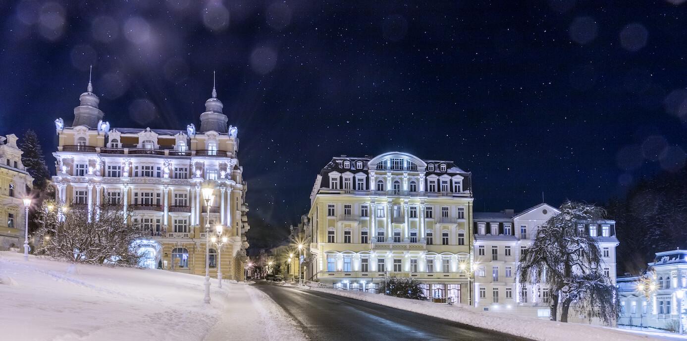 Hvezda Health Spa Resort in de winter