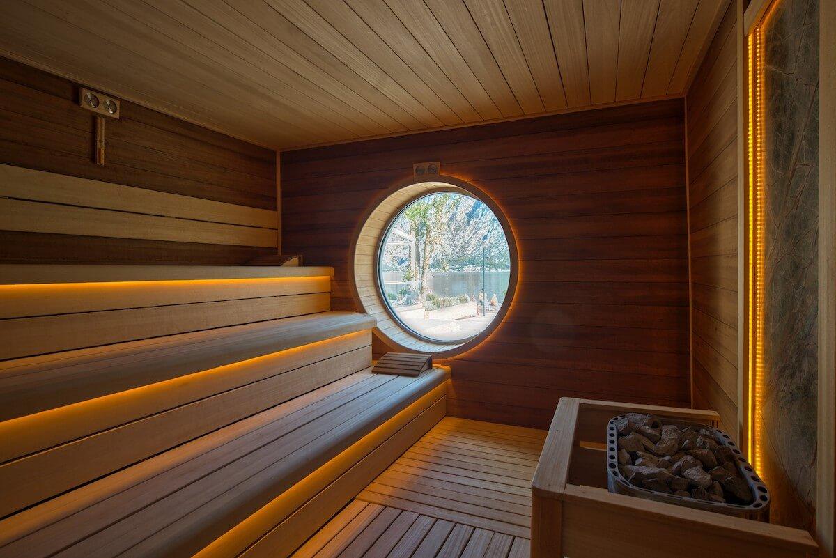 Finse sauna Blue Kotor Bay Spa Resort
