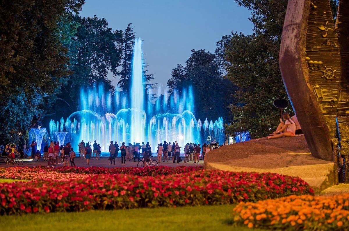 Margitsziget Health Spa Resort: fontein in stadspark