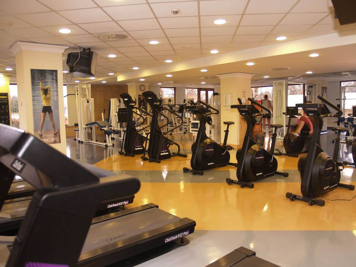 Fitness studio in kuuroord Margitsziget Health Spa Resort in Boedapest.