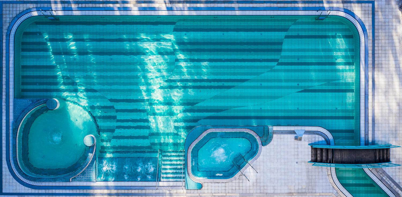 Buitenbad Esplanade Health Spa Resort in het Slowaakse kuuroord Piestany