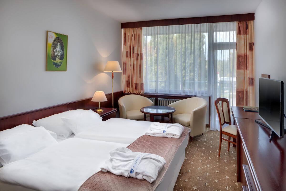 Comfort kamer in Splendid Health Spa Resort in het Slowaakse kuuroord Piestany