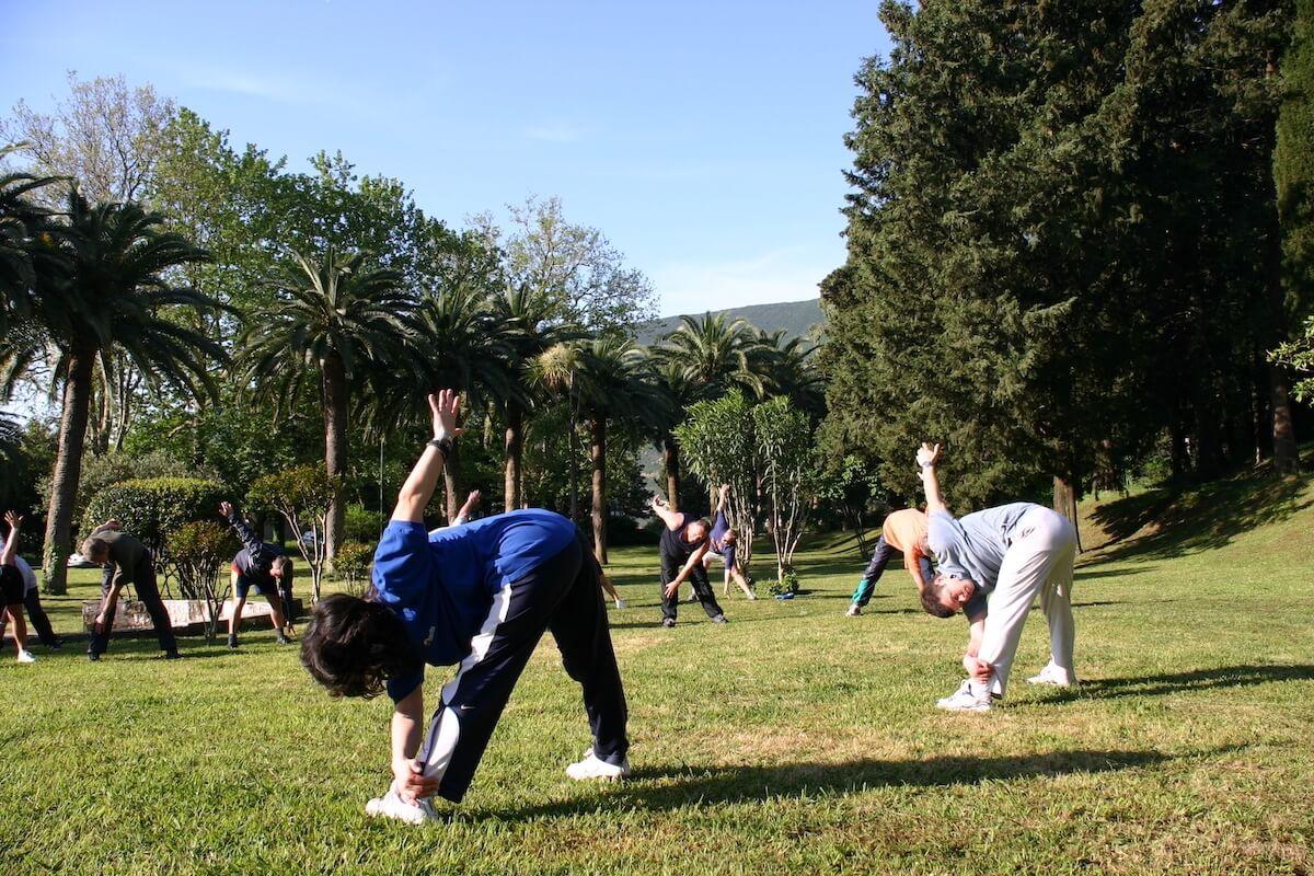 Buiten oefeningen Igalo Health Spa Resort