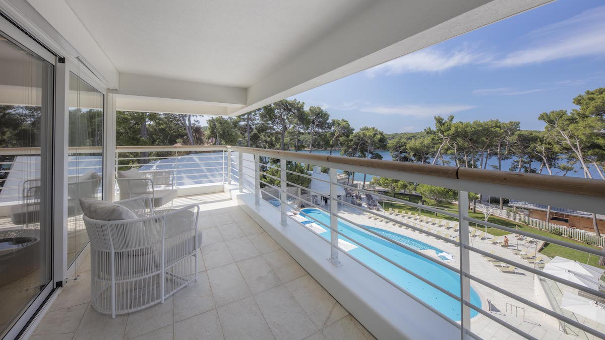 Balkon junior suite Bellevue Spa Resort
