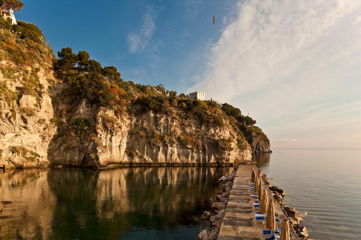 privé strand Regina Isabella Spa Resort