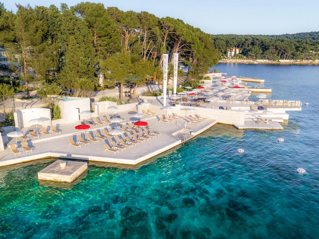 Privé strand Bellevue Spa Resort