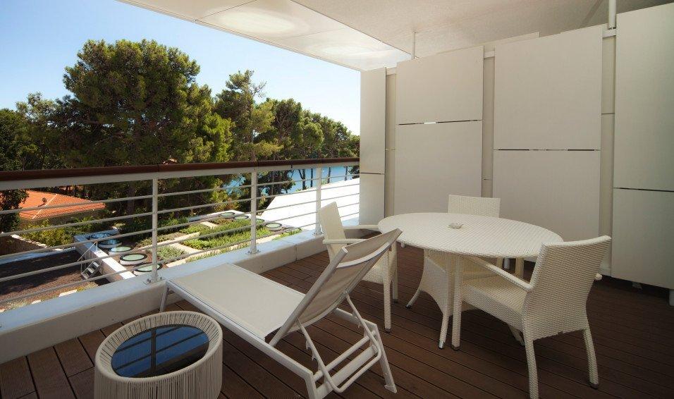 Balkon dekluxe kamer Bellevue Spa Resort