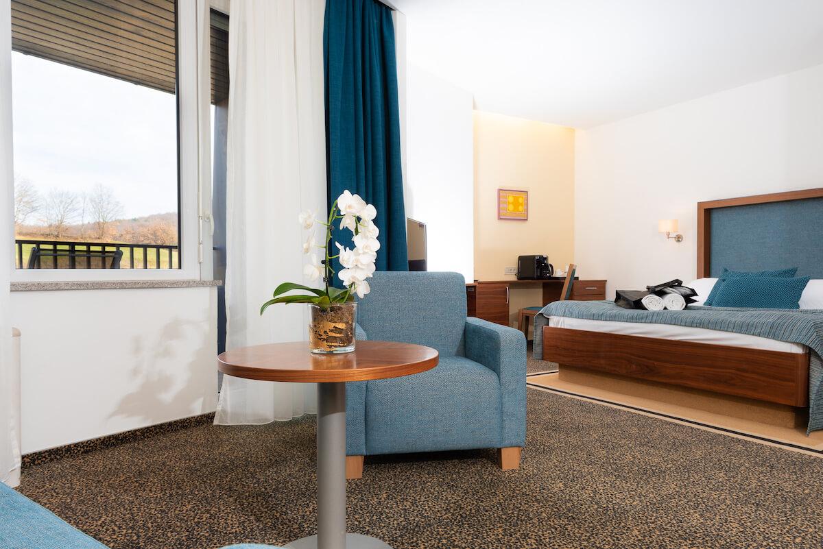 Junior suite in het Sloveense spa resort Terme Smarjeske Toplice.